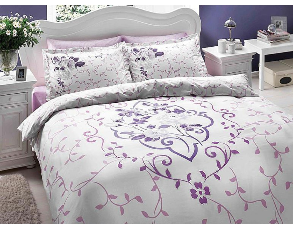 20214 Double quilt cover set satin cotton delux
